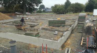 travaux de construction espace santé
