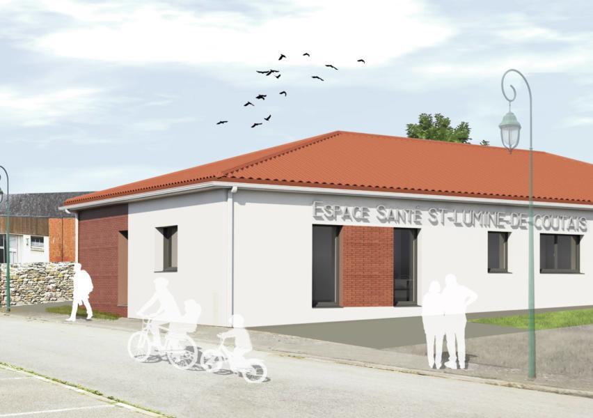 espace de santé construit à Saint Lumine de Coutais